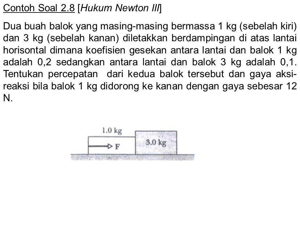 Contoh Soal 2.8 [Hukum Newton III]
